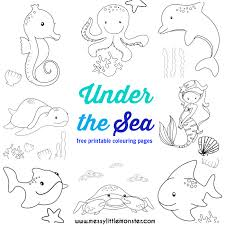 sea colouring pages free messy monster