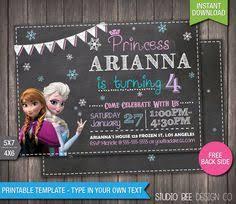 cmartistry frozen anna elsa and olaf birthday invitations diy