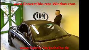 Porsche Boxster Non Convertible - convertible rear window porsche boxster 986 youtube