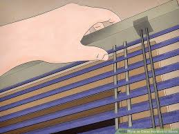 Venetian Blinds How To Clean 3 Ways To Clean Horizontal Blinds Wikihow