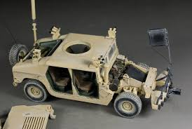 armored humvee interior award winner built bronco 1 35 humvee up armored ha heavy tactical