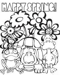 Happy Spring Coloring Pages Place Pinterest Happy Spring Happy Coloring Pages