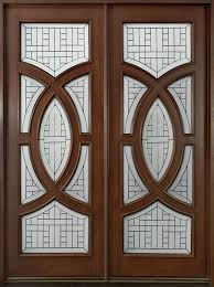 modern front door custom double solid wood with dark mahogany