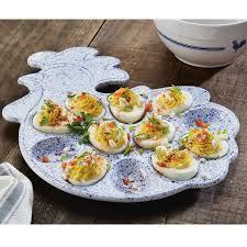 deviled egg platter paula deen signature stoneware rooster egg platter reviews wayfair