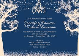 Tree Chandelier Romantic Night Tree Chandelier Wedding Invites Ewi407 As Low As