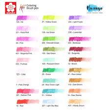 list of colours sakura koi coloring brush pen available in 48 colours list 3 3
