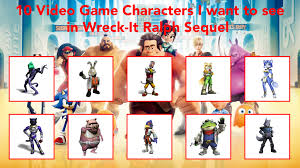 10 characters wreck ralph 2 star fox style
