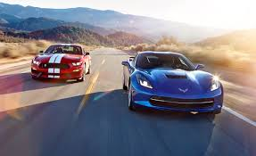 mustang stingray 2014 2016 chevrolet corvette stingray z51 vs 2016 ford mustang shelby