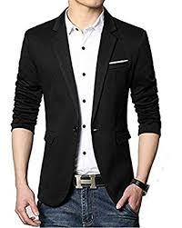 casual blazer bregeo fashion black casual blazer amazon in clothing accessories