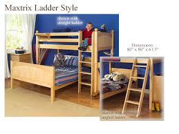 Twin Over Full LShaped Bunk Bed By Maxtrix Kids Natural Wood - Kids l shaped bunk beds