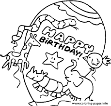 animals happy birthday balloons s10f8 coloring pages printable