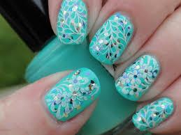 teal color nail designs images nail art designs