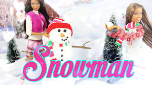 diy how to make doll snowman easy handmade christmas