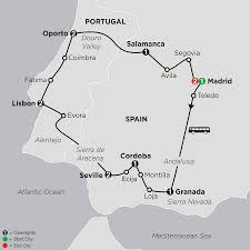Map Of Spain And Morocco by Best Of Spain U0026 Portugal Tour Cosmos Tours