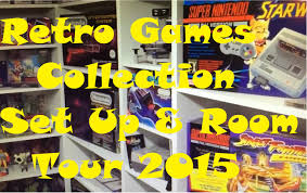 retro game room tour u0026 gaming set up 2015 nintendo nes u0026 snes