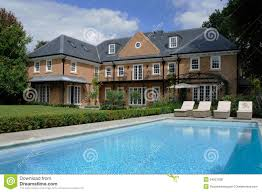 house with pool royalty free stock photos image 34521038