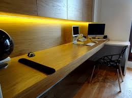 chic home office desk chic home office with long narrow wall mount desk idea plus wood