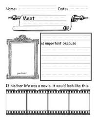 writing a biography graphic organizer i saw a poster like this where the teacher had students fill this