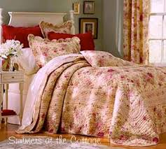 tuscan country wine roses farmhouse quilt king or queen