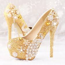 wedding shoes glasgow luxurious gold rhinestone wedding shoes flowers shoes high