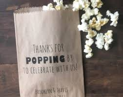 popcorn wedding favors popcorn bags etsy