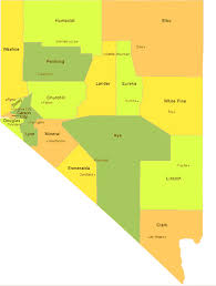 nevada counties map map of nevada cities counties map nevada state map