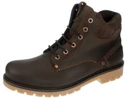 yuma newton dark brown lace up chelsea ankle boots mens leather