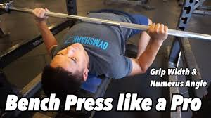 powerlifting bench press grip width how to bench press like a pro grip width upper arm angle youtube