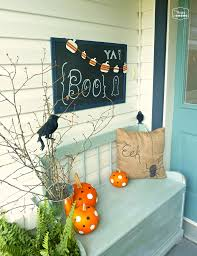 diy halloween door hanging and our crow tastically spooky front porch