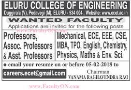 resume format for freshers engineers ecet eluru college of engineering eluru wanted teaching faculty