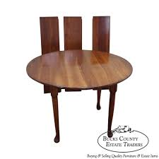 9395 stickley cherry valley round dining table w 3 leaves bucks