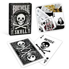 bicycle skull back cards supplies