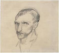 self portrait by vincent van gogh 1451 drawing pencil