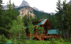 alberta canada canada villa house sky forest tree mountain nature