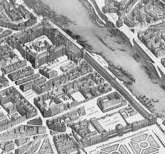 On The Map File Louvre And Tuileries Palaces On The Map Of Turgot 1739
