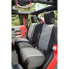 seat covers jeep wrangler rugged ridge 13264 09 neoprene rear seat cover 07 15 jeep