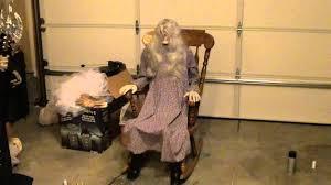 Old Man Rocking Chair Halloween Rocking Chair Grandma Prop Youtube