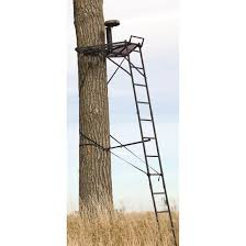 big ultra view 15 ladder tree stand with blind matrix