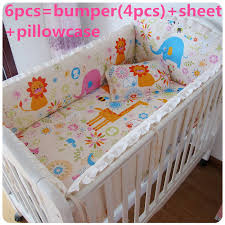 Cheap Baby Beds Cribs Promotion 6pcs Bedding Set Crib Sets For Babies Lovely Design