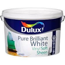 dulux soft sheen pure brilliant white paint 10 litre white