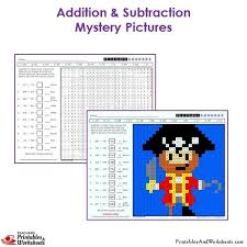 addition addition and subtraction coloring worksheets for