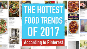 the hottest food trends of 2017 according to pinterest youtube
