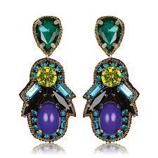 suzanna dai earrings suzanna dai blue ombre bon bon earrings hauteheadquarters