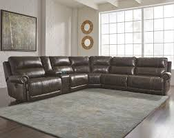 6 piece reclining sectional with storage console u0026 armless