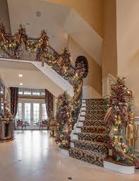 foyer staircase garland traditional staircase