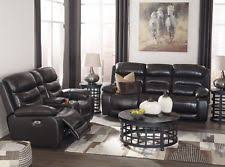 Leather Recliner Sofa And Loveseat Ashley Reclining Sofa Ebay