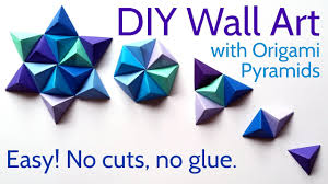 Wall Art by Diy Paper Wall Art With Origami Pyramid Pixels Easy Tutorial And