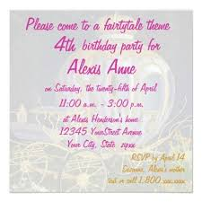 4th birthday invitation cards fairy birthday invitations ideas for