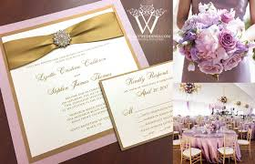 blush and gold wedding invitations lavender gold wedding invitation with gold satin ribbon