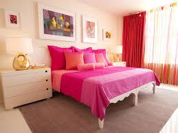 interior romantic bedroom design pink bedsheet pink cushion pink